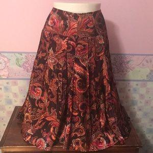 Beautiful brown silky skirt